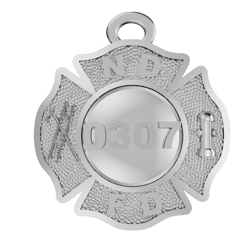 Firefighter Maltese Cross Pendant